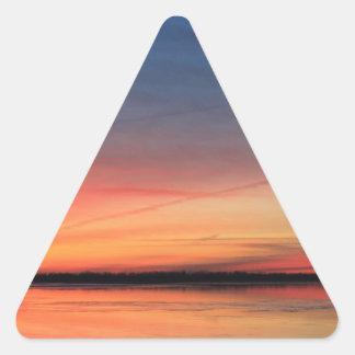 Beau lever de soleil sticker triangulaire