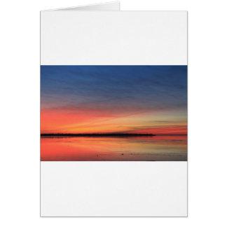 Beau lever de soleil carte de vœux