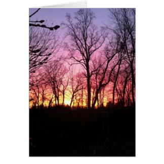 beau lever de soleil carte de correspondance
