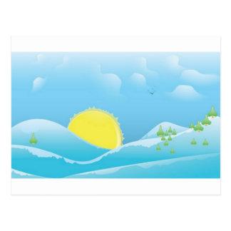 Beau lever de soleil carte postale