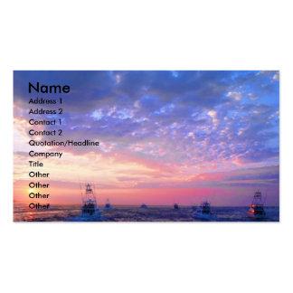 Beau lever de soleil dans des cartes de visite de  cartes de visite personnelles