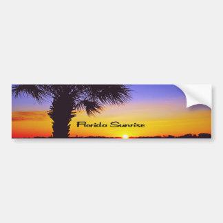 Beau lever de soleil de la Floride Autocollant De Voiture