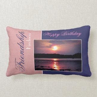 Beau lever de soleil de plage (ami - joyeux annive oreillers