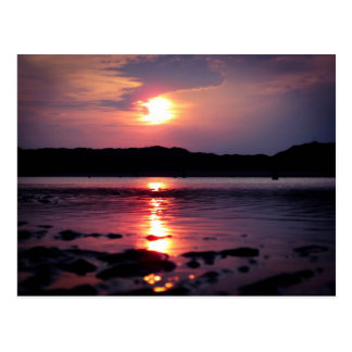 Beau lever de soleil de plage carte postale