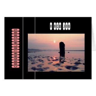 Beau lever de soleil de plage (félicitations) carte de vœux
