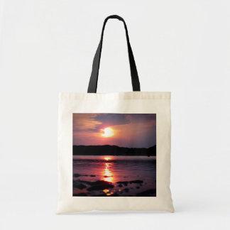 Beau lever de soleil de plage sac en toile budget