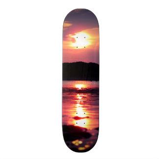 Beau lever de soleil de plage skateboard old school  21,6 cm