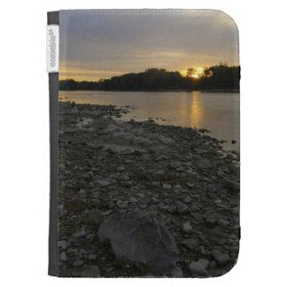Beau lever de soleil de rivière coques kindle
