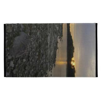 Beau lever de soleil de rivière coques iPad folio