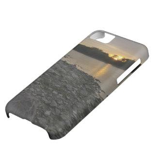 Beau lever de soleil de rivière coques pour iPhone 5C