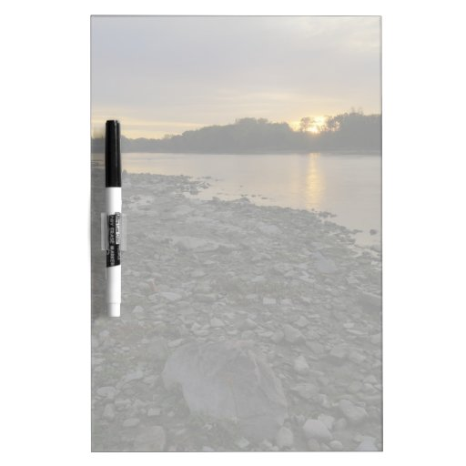 Beau lever de soleil de rivière tableaux blancs  effaçables à sec