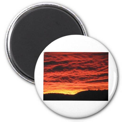 Beau lever de soleil du Colorado Aimants Pour Réfrigérateur