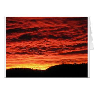 Beau lever de soleil du Colorado Carte De Vœux