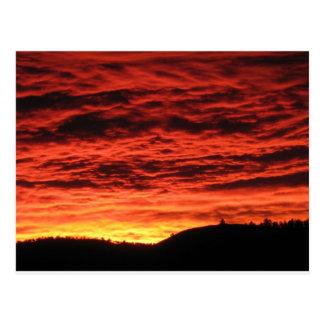 Beau lever de soleil du Colorado Cartes Postales