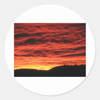 Beau lever de soleil du Colorado Sticker Rond