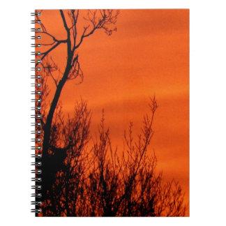 Beau lever de soleil orange au Kansas Carnets