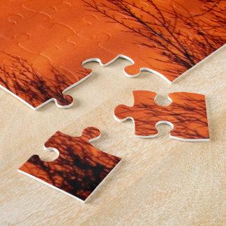 Beau lever de soleil orange au Kansas Puzzles Avec Photo