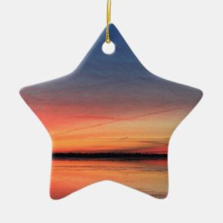 Beau lever de soleil ornement étoile en céramique