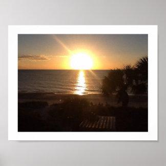 Beau lever de soleil poster