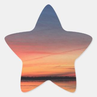 Beau lever de soleil sticker étoile