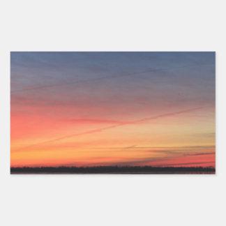 Beau lever de soleil sticker rectangulaire