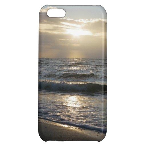 Beau lever de soleil sur la plage sur le coque iph étui iPhone 5C