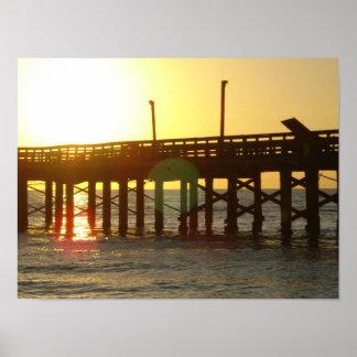 BEAU lever de soleil sur le pilier dans Miami