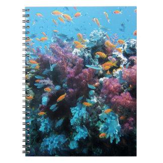 Beau monde sous-marin coloré carnet à spirale
