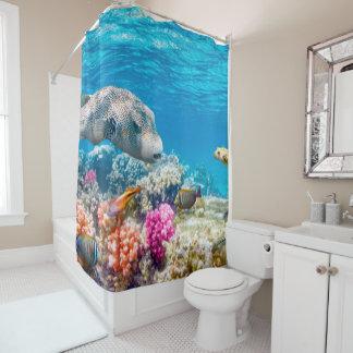 beau monde sous-marin de poissons, wather rideaux de douche