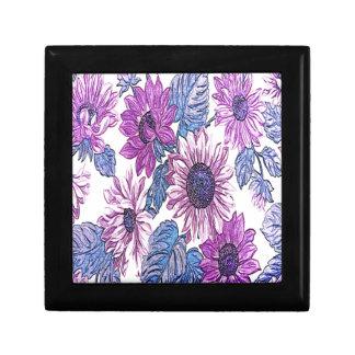 Beau motif floral boîtes à souvenirs