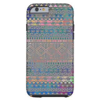 Beau motif géométrique aztèque coloré frais coque iPhone 6 tough