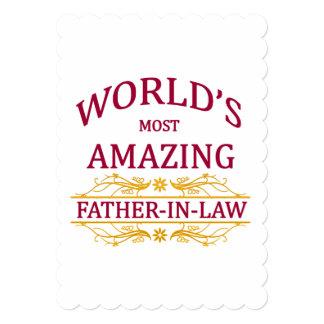 Beau-père extraordinaire carton d'invitation  12,7 cm x 17,78 cm