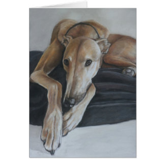 Beau the Greyhound Dog Art Note Card