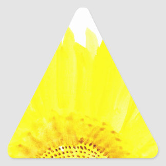 Beau tournesol d'aquarelle sticker triangulaire