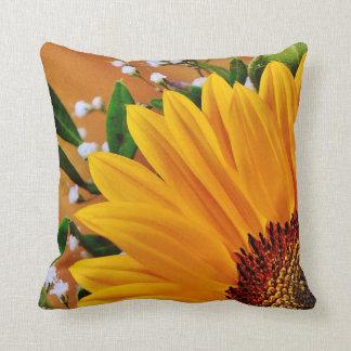 Beau tournesol jaune audacieux floral oreiller