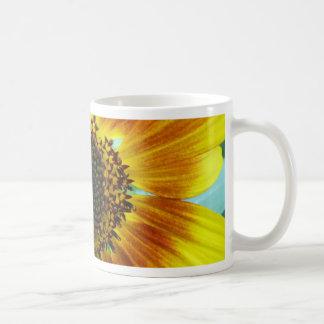 Beau tournesol jaune-orange tasse à café