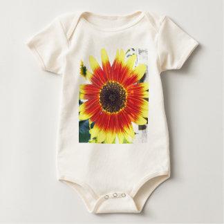Beau tournesol rouge et jaune body pour bébé
