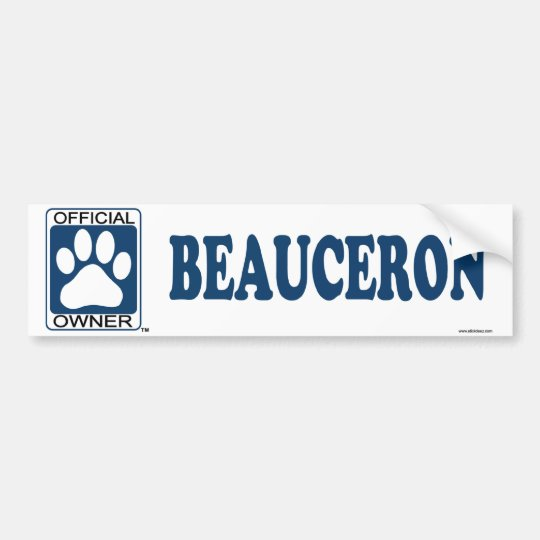 Beauceron Blue Bumper Sticker