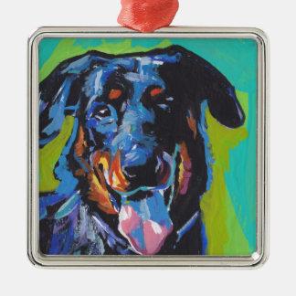 beauceron Dog Pop Art Metal Ornament