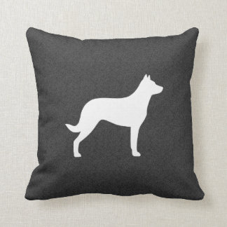Beauceron Dog Silhouette Throw Pillow