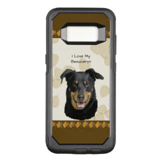 Beauceron on Tan Leaves OtterBox Commuter Samsung Galaxy S8 Case