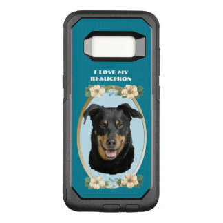 Beauceron on Teal Floral OtterBox Commuter Samsung Galaxy S8 Case