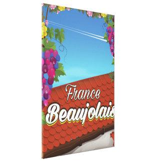 Beaujolais France wine travel poster Canvas Print