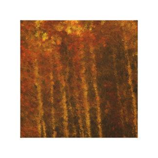 Beauté d'automne de paysage d'arbre toile tendue sur châssis