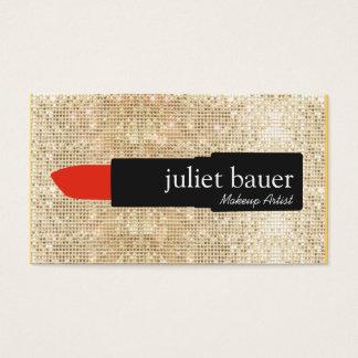 Beauté de logo de rouge à lèvres de maquilleur de cartes de visite