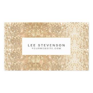 Beauté scintillante à la mode de paillettes d'or carte de visite standard