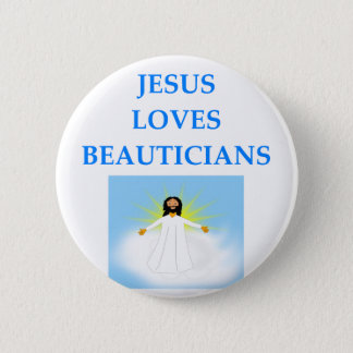 BEAUTICIAN 2 INCH ROUND BUTTON
