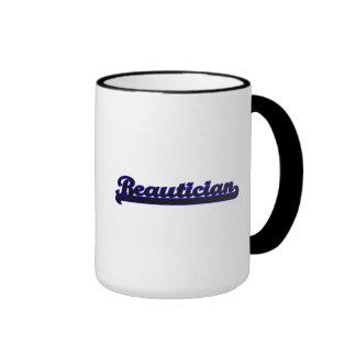 Beautician Classic Job Design Ringer Coffee Mug