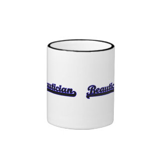 Beautician Classic Job Design Ringer Mug
