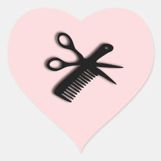 Beautician Design Pink Heart Sticker